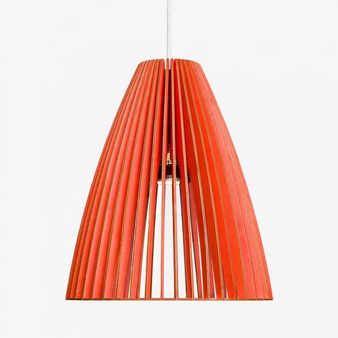TEIA Pendelleuchte aus Holz (rot)