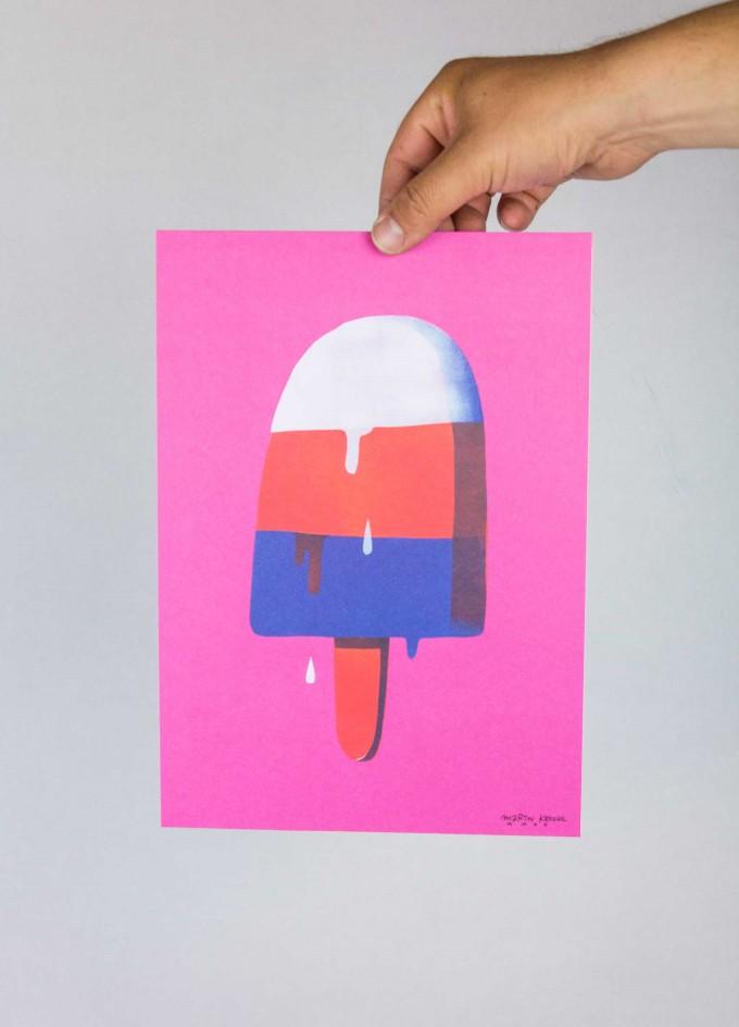 Martin Krusche - Poster »Ice« DINA4