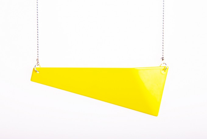 Theobalt.design FOLD Kette (orange-gelb semigloss)