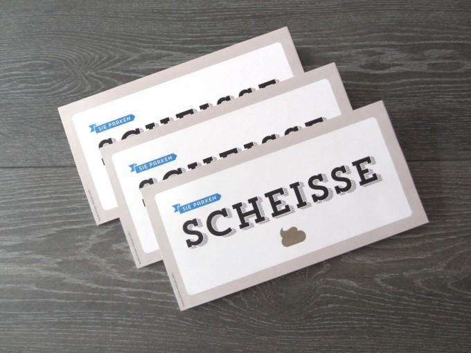Design Verlag Abreissblock – Sie parken scheiße (3er-Set)