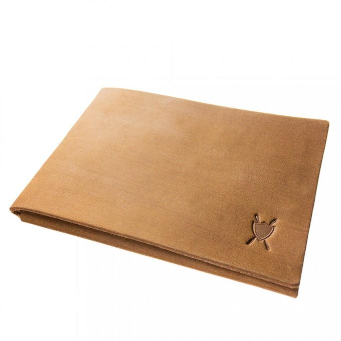 LIEBHARDT - simples schlichtes Portemonnaie aus pflanzlich gegerbtem Leder handgenäht - cardholder (braun)