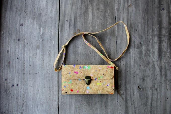 Handtasche, Clutch aus Kork BY COPALA