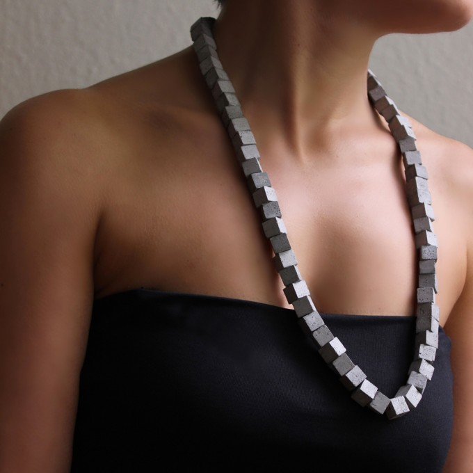Beton Kette, Moderne Halskette, Minimalistischer Schmuck aus Beton by ORTOGONALE