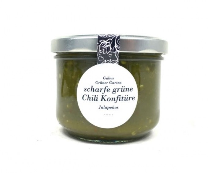 Gabys Grüner Garten scharfe grüne Chili Konfitüre 250g