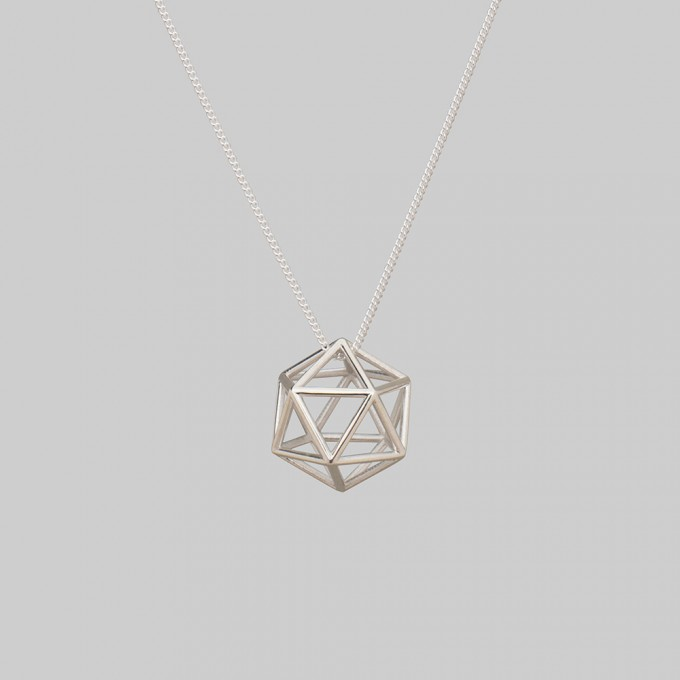 "Teresa Gruber Anhänger ""platonic solids- Ikosaeder"", 925 Silber"