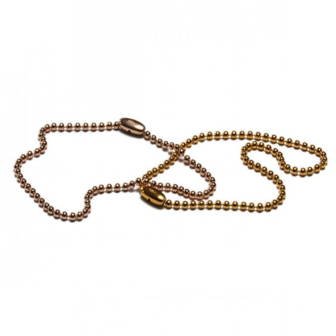Kugelketten Armband fein in Feingold oder Rotgold