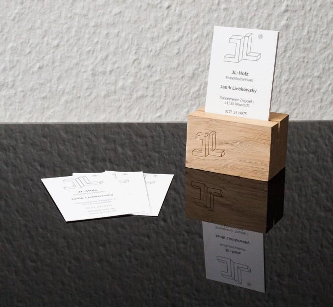 JL-Holz Visitenkartenständer