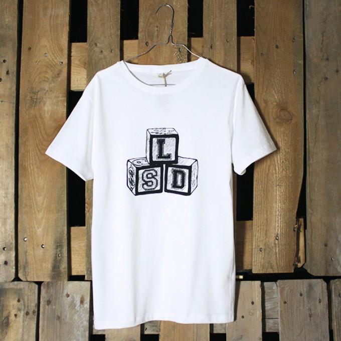 """KINDERGELD ORGANIC Classic T-Shirt """"ALBERT"""" (LSD) weiss"""