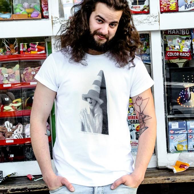 """KINDERGELD ORGANIC Mens Roll Sleeve T-Shirt """"RÜDIGER"""""""