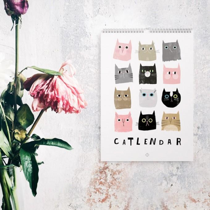 Wandkalender / Catlendar Catisfaction 2019
