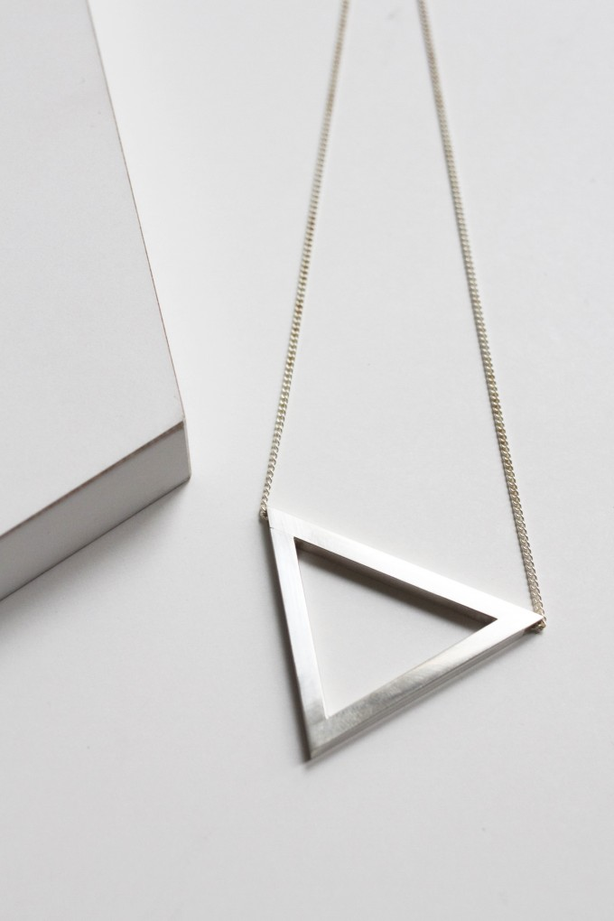 "puur.jewellery Kette ""triangle"""