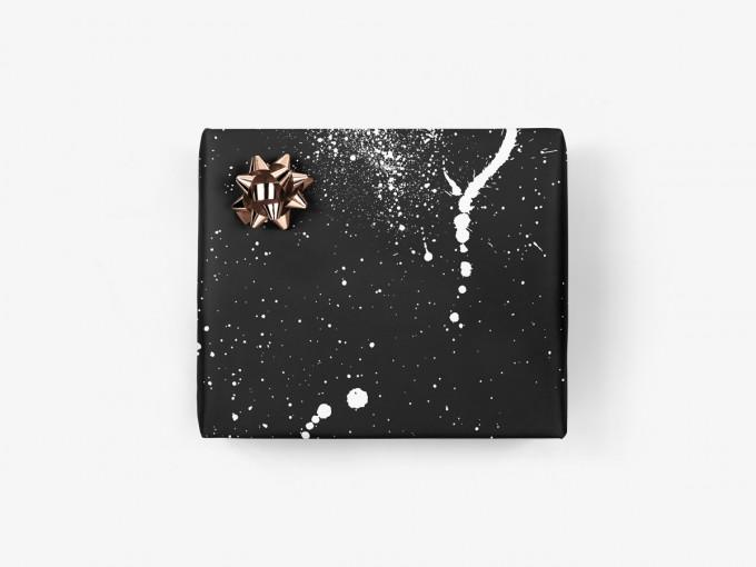 5x Geschenkpapier / Kleckse No. 1 (gefaltet)