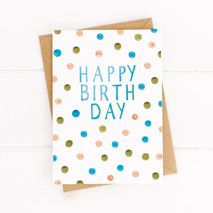 Paperlandscape | Geburtstagskarte | Konfettiregen