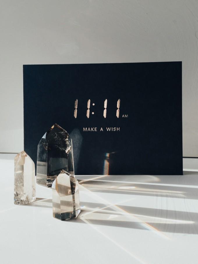 11:11 AM -  MAKE A WISH - A5 Print - Letterpress – Anna Cosma