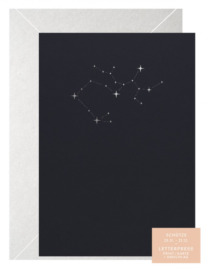 SCHÜTZE  STERNZEICHEN - A5 Print - Letterpress – Anna Cosma