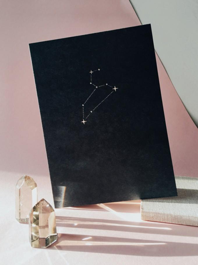 LÖWE STERNZEICHEN - A5 Print - Letterpress – Anna Cosma