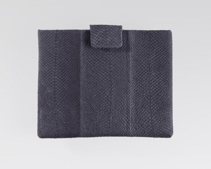 Lapàporter iPad case Lachsleder (platin)