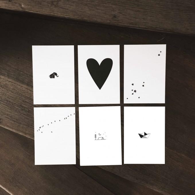 "Love is the new black – Postkarten-Set ""Graphics"""