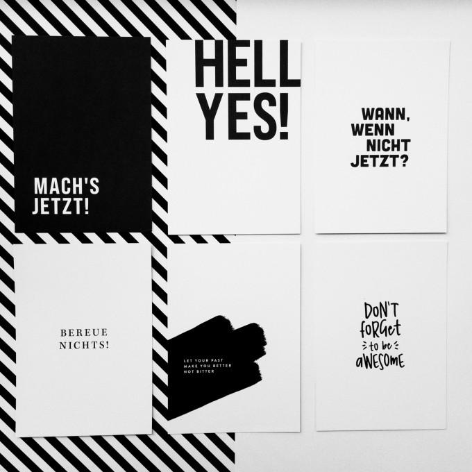 "Love is the new black – Postkarten-Set ""Motivation"""
