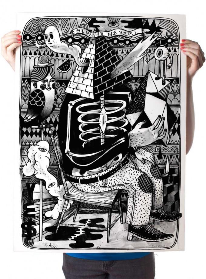 Poster »LSDMA« 50x70cm, Illustration von Martin Krusche