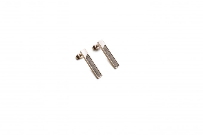 BeWooden Ohrringe mit Holzdetail - Neue Collection - Lumen Earrings Rectangle
