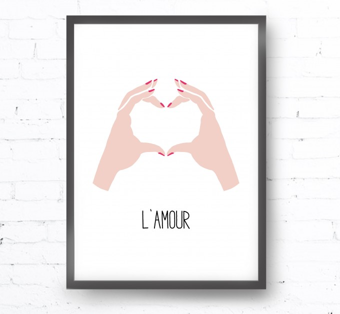 Kruth Design POSTER / L'AMOUR