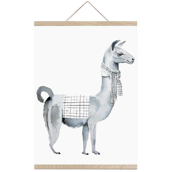nuukk Lama-Poster (Din A3)