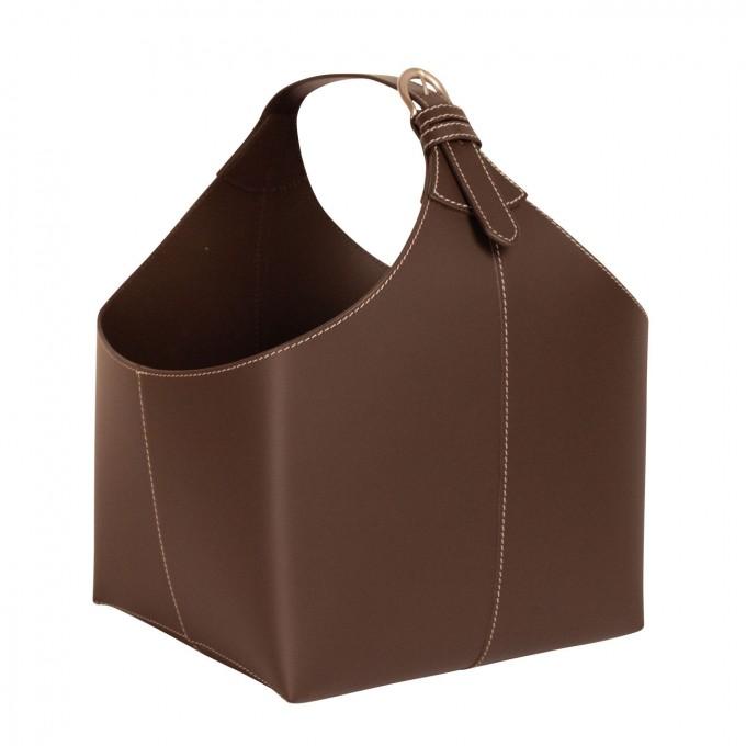 adorist. - Spielzeugkorb, Leder Korb zur Aufbewahrung, kakao
