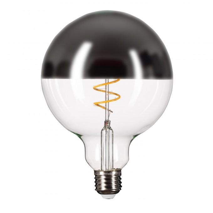 Lichtliebe Edison Mirror LED Kopfspiegellampe silber mit nur 5 Watt