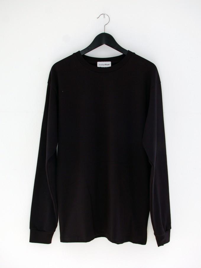 AnotherBlank BASIC LONGSLEEVE BLACK 240G AB_LS_M_016