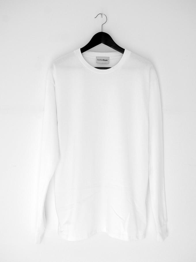 AnotherBlank BASIC LONGSLEEVE WHITE 240G AB_LS_M_016
