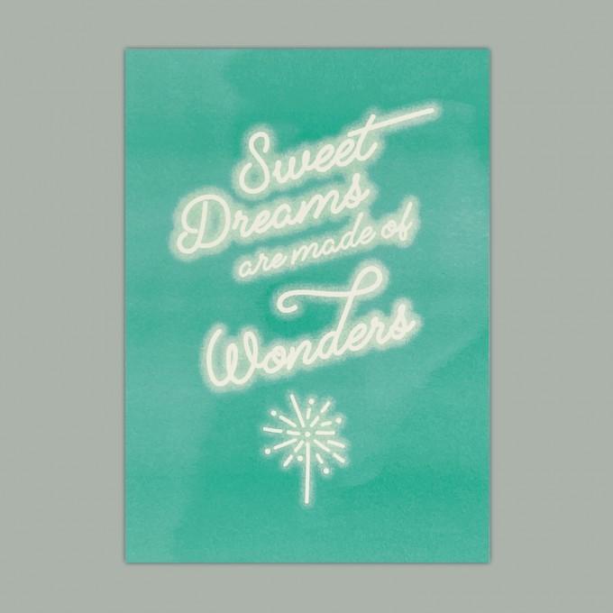 Feingeladen // KARAOKE INSPIRED // Sweet Dreams (MIFG), RISO-Kunstdruck, A5