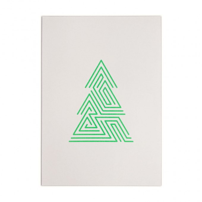 Feingeladen // LINE ART // Tree (FG), RISO-Kunstdruck, A5