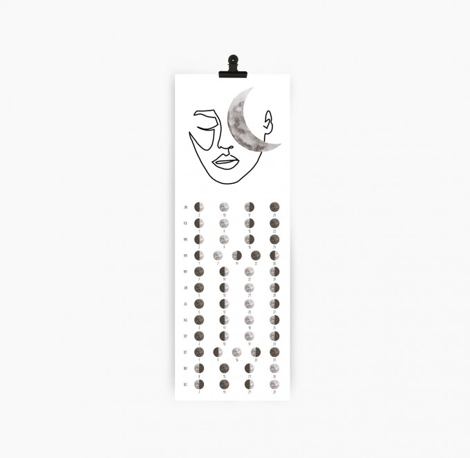 Kruth Design MOND KALENDER 2020 / MOON FACE