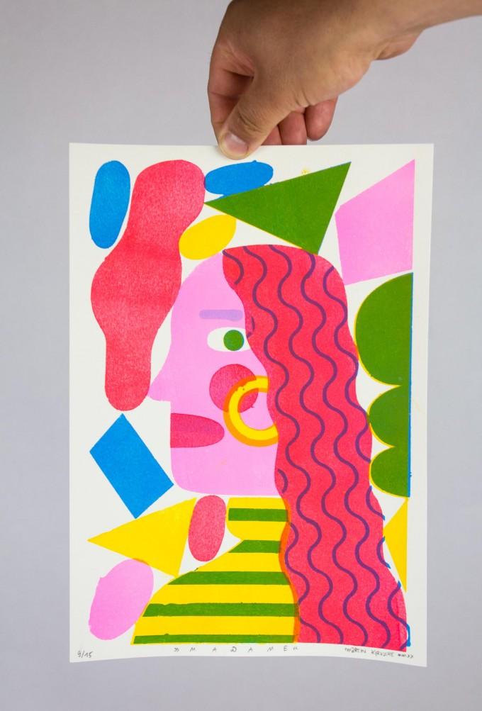Martin Krusche - Stencilprint »Madame« DINA4