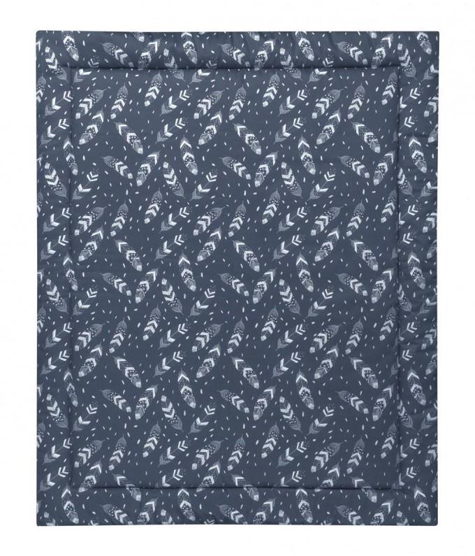 MEINE LIEBE – KRABBELDECKE FEATHER GRAUBLAU 90x110cm