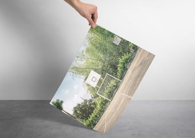 JOE MANIA / Modern Artprint Poster / Streetball Courts 2 (Manizales, Colmobia) DIN A4 - A0
