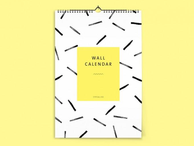 typealive / Wandkalender DIN A4 / Black & White 2020