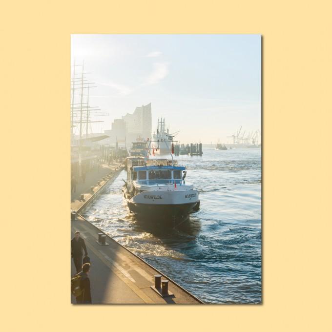 'Morgens am Hafen' limitierter Fotodruck auf Naturpapier, DIN A2, klimaneutral gedruckt / Ankerwechsel Verlag