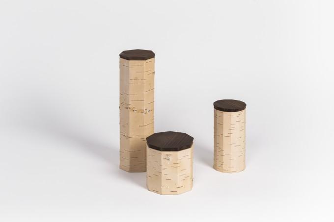MOYA Nachhaltige Vorratsdose aus Birkenrinde TUESA   3er Set   plain edition
