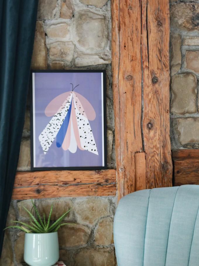 stahlpink - Muster Motte, Fine-Art-Print