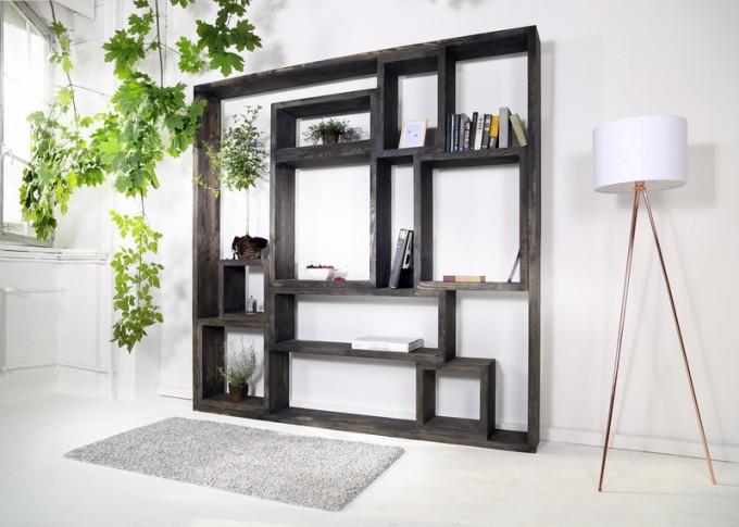 Regal im Landhaus-Stil Neiva Black Wash