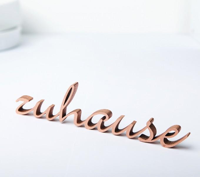 NOGALLERY Zuhause - Deko Schriftzug Holz