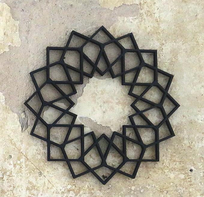 NOGALLERY Blume Holz Motiv Deko