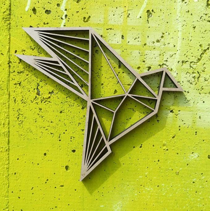 NOGALLERY Vogel - Deko Motiv Holz