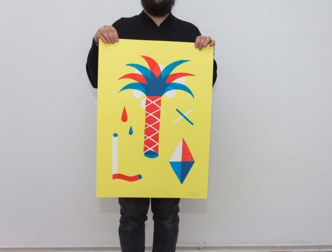 Martin Krusche – Stencil Artprint »Nizza«