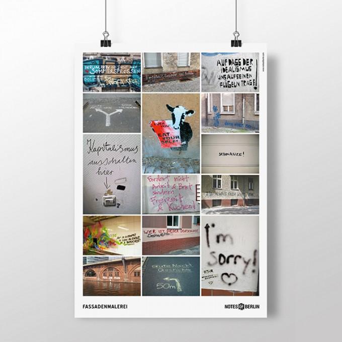 FASSADENMALEREI Notes of Berlin Themenplakat von seltmann+söhne