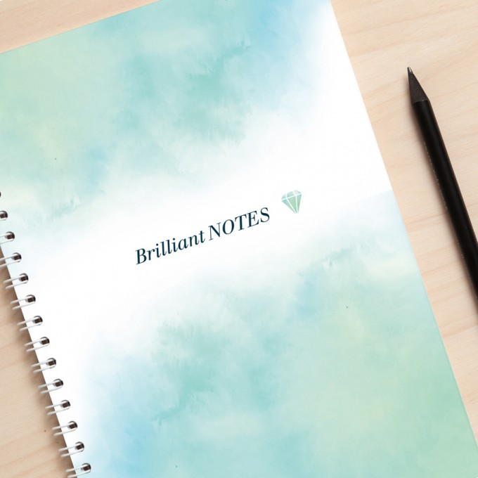 "Amy & Kurt Berlin A5 Notizbuch ""Brilliant Notes"" hellblau"