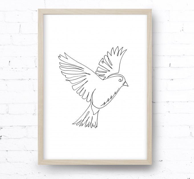 Kruth Design POSTER / ONE LINE BIRD
