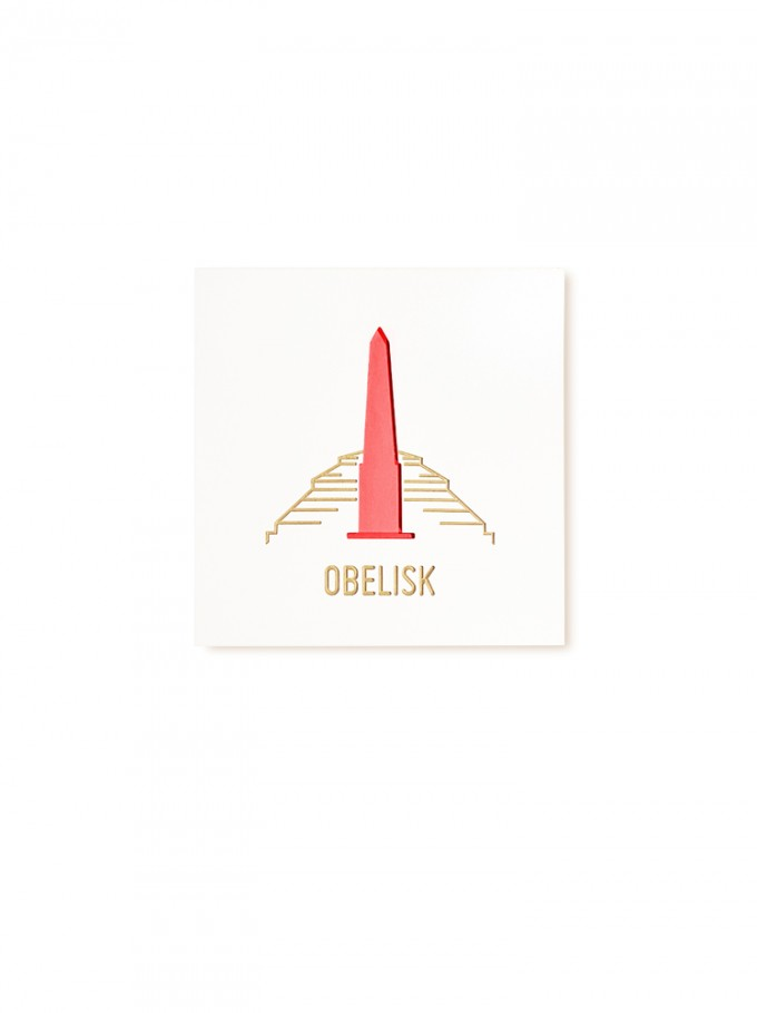 "Stadtliebe® | 3D-Holzbild ""Obelisk"" veredelt mit CNC-Fräsung"